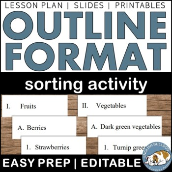 Outline Sorts Activity