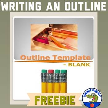 Free Outline Template Blank By Happyedugator Tpt