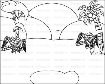 outline wild jungle school woodland clip art zoo line stamp africa