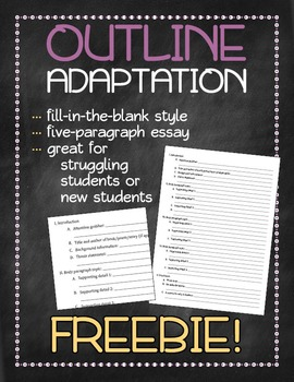 Outline adaptation