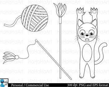 Outline cats Digital Clip Art Graphics Personal Commercial Use 20 images cod154
