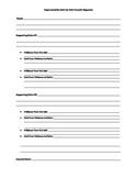 Outline for Writing Argumentative Essays