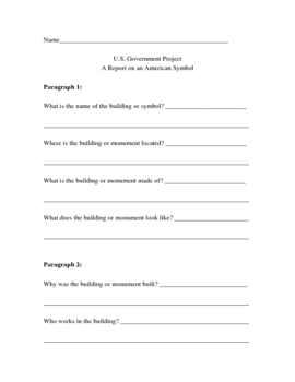 Outline for a Government Symbol Research Paper