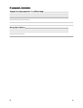 Outline for an Argumentative Essay