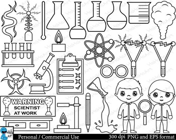 Outline crazy laboratory Digital Clip Art Graphics 42 images cod124