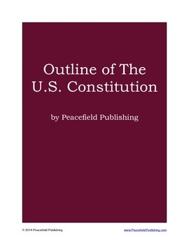 Outline of the U.S. Constitution