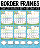Rainbow Border Frames Clipart Set — Over 125 Graphics!