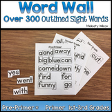 Outlined Word Wall Words Pre-Primer Through Grade Three