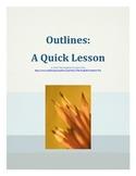 Outlines: A Quick Lesson Handout