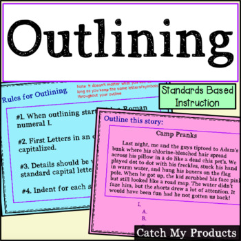 Writing Outlines for Promethean Board Use