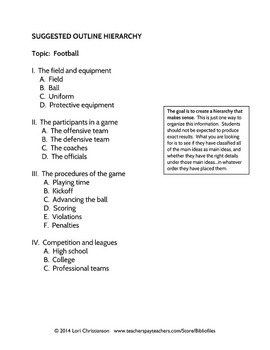 Outlining Practice:  No-Prep Activity and Printables