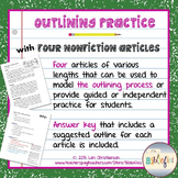 Outlining Practice with Informational Text {No-Prep Printables}