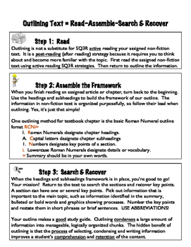 Outlining Text - Note-taking Strategy
