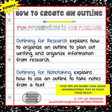 Outlining for Notetaking and Outlining for Research {Two PowerPoint Bundle}