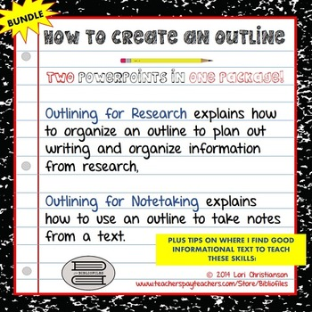 Outlining for Notetaking and Outlining for Research {Two P