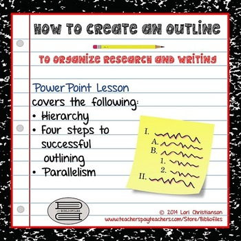 Outlining for Writing and Research:  PowerPoint Lesson