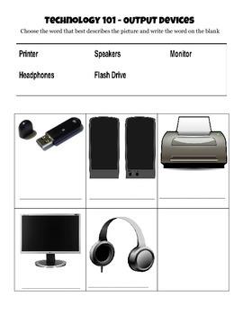 Output Device Worksheet