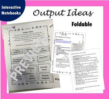 Output Idea Foldable