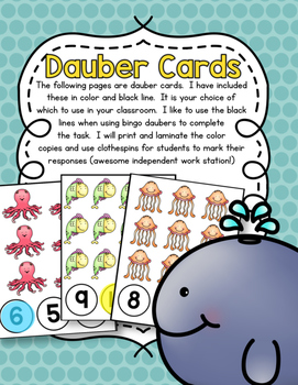 Outrageous Ocean Counting Pack 1-10