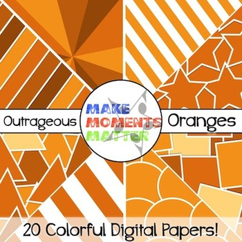 Outrageous Oranges - Digital Paper Pack