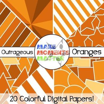 Outrageous Oranges - Digital Paper Pack