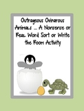 Outrageous Oviparous Animals-A Differentiated Nonsense/Real Word Sort