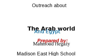Outreach about the Arab world and Egypt