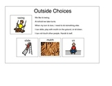 Outside Choices, Social Story Sharing the Swing Autism