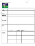 Outside Reading Assignment Blank Graphic Organizer