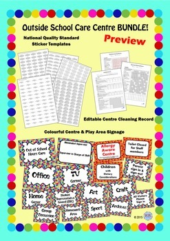 Outside School Care Centre Mega BUNDLE! - OSHC Documents, Signage & Labels