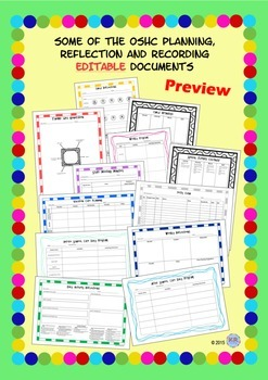 Outside School Care EDITABLE Planning, Reflection and Recording Documents - OSHC