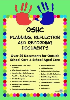 Outside School Care Planning, Reflection and Recording Doc