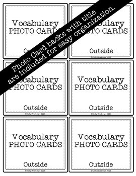 Outside Vocabulary Photo Flashcards