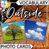 Outside Vocabulary Flashcards (Speech Therapy, Special Edu