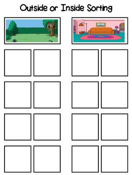 Outside or Inside Sorting Interactive Board