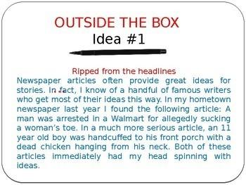 Outside the  Box Story Ideas