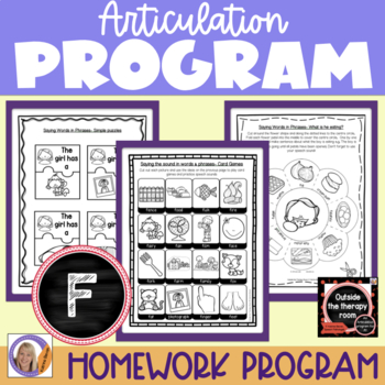 Articulation Program: /f/ Outside the Therapy Room