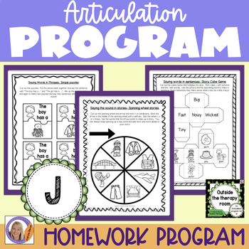 Articulation Program: 'j' /dz/ for speech and language therapy