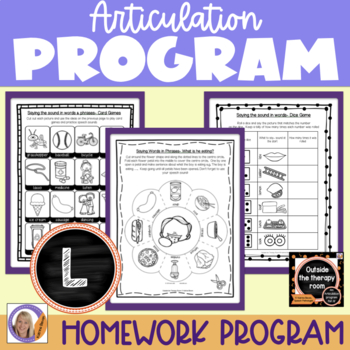 Articulation Program: /l/ for speech and language therapy