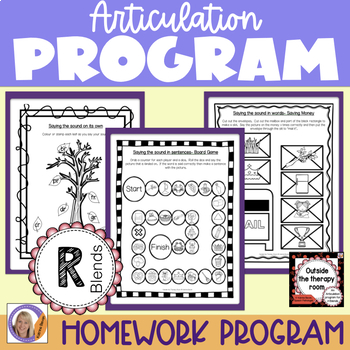Articulation Program: /r/ blends Outside the Therapy Room
