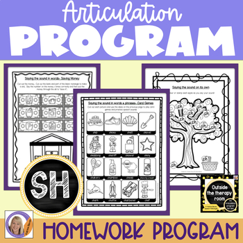 Articulation Program: /sh/ for speech and language therapy