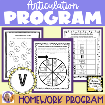 Articulation Program: /v/ for speech and language therapy