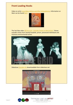 Outsider Art - Art from off the grid - Art History mini-lesson