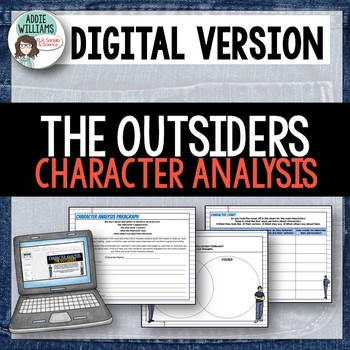 The Outsiders Character Analysis - Digital / Google Version