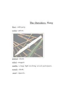 Outsiders (Hinton) slang definitions