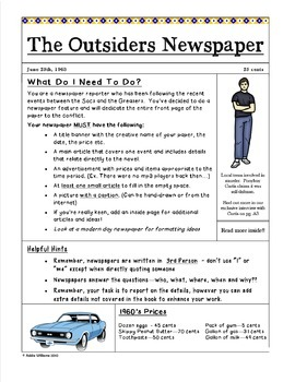 The Outsiders Newspaper Project - Google / OneDrive Version