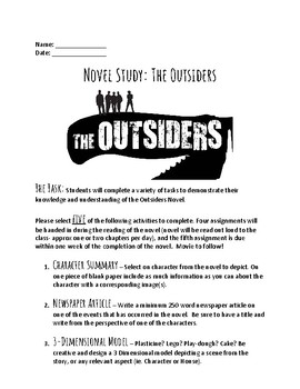 Outsiders Novel Study