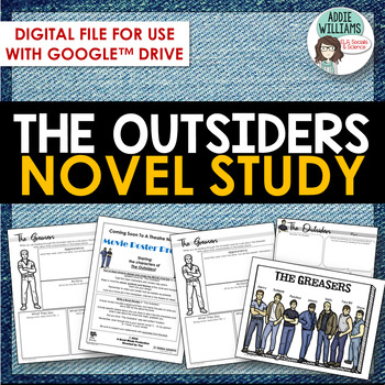 The Outsiders Novel Study - Digital / Google Version