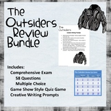 Outsiders Review Bundle: Quiz Game, Creative Writing, Final Test