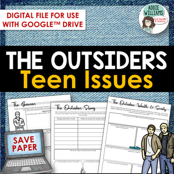Outsiders - Teen Issues Then and Now - Digital / Google Version